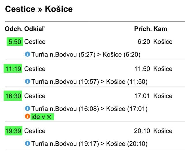 Vlaky Kosice