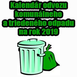 Odvoz odpadu Cestice 2019