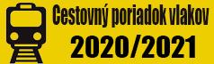 CESTOVNÝ PORIADOK VLAKOV 2020/2021